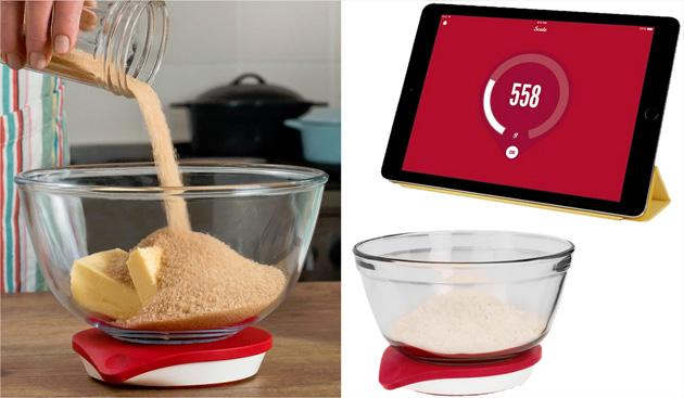 balance de cuisine connect e un ipad pour cuisiner efficacement. Black Bedroom Furniture Sets. Home Design Ideas