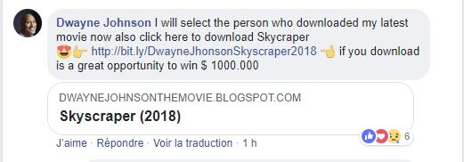 Faux comptes Facebook Dwayne Johnson The Rock