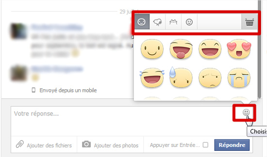Ajouter des émoticônes ou smileys à vos messages Facebook ... Facebook Message Emoticons