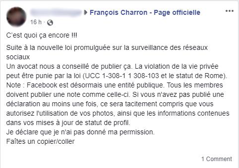 Facebook UCC 1-308-1 1 308-103 et le statut de Rome