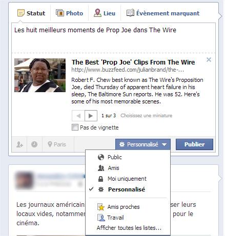 Facebook acces contenus
