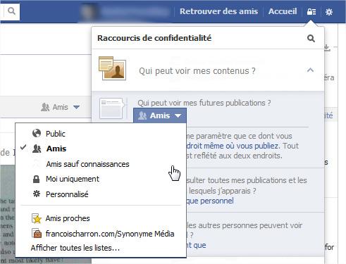 Facebook changer audience par défaut