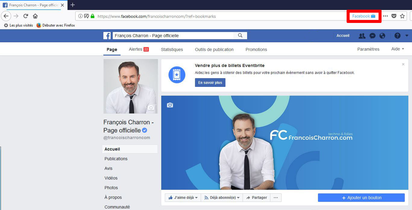 Facebook Container extension Firefox