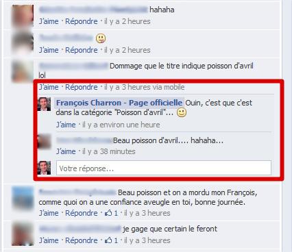 Nouvelle option Facebook, un bouton pour répondre aux commentaires - Francoischarron.com