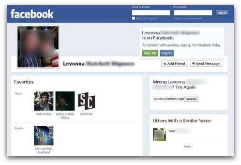Site facebook virus