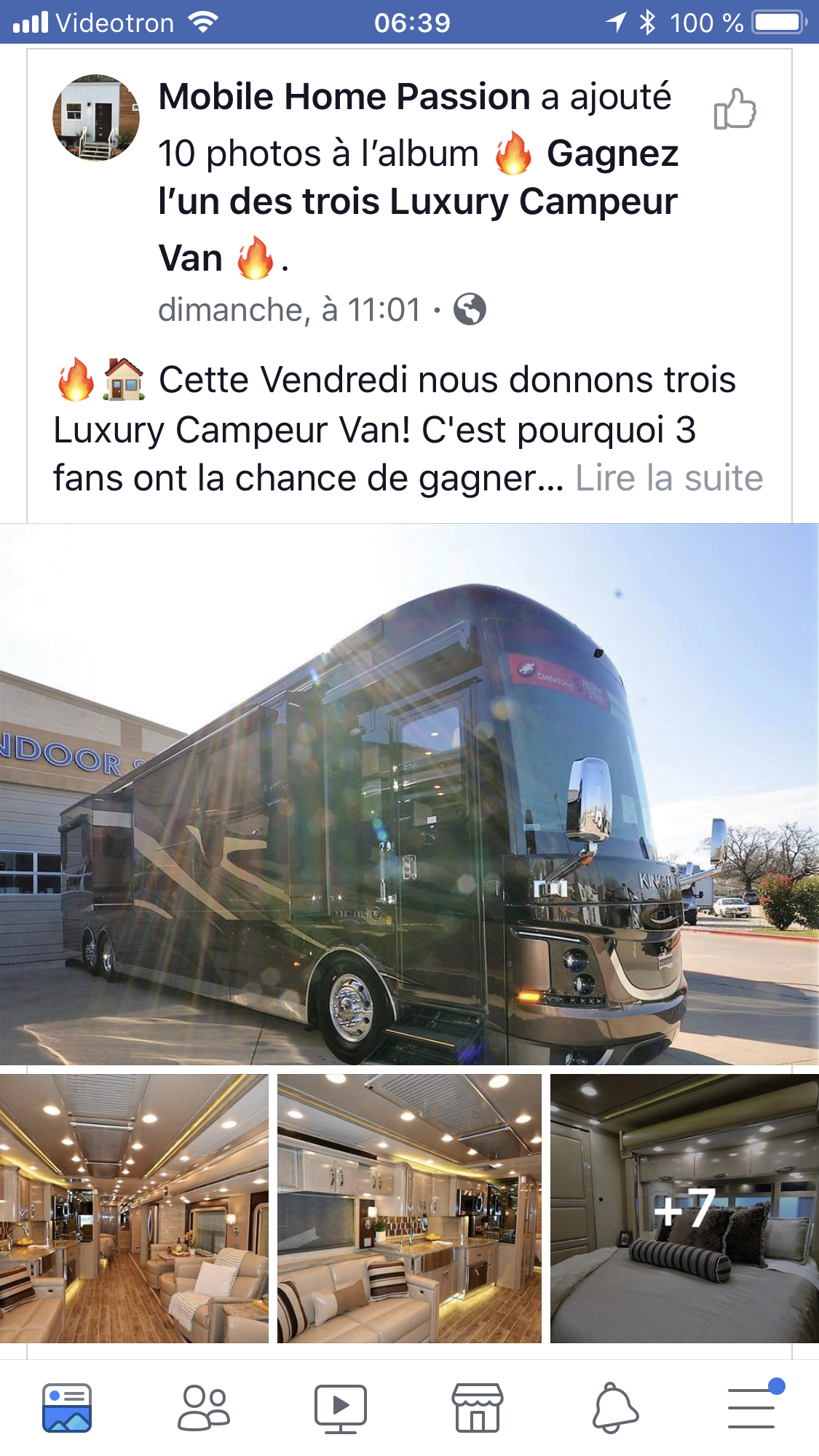 Faux concours Facebook Mobile Home Passion