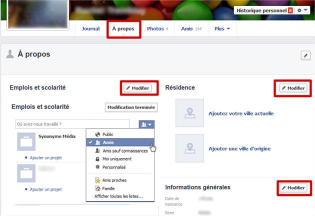 Facebook à propos