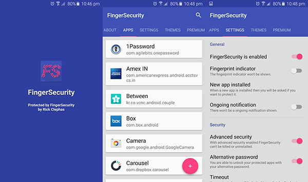 finger security app