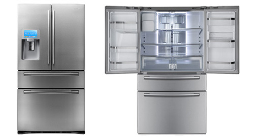 un frigo intelligent avec cran tactile acl de samsung. Black Bedroom Furniture Sets. Home Design Ideas
