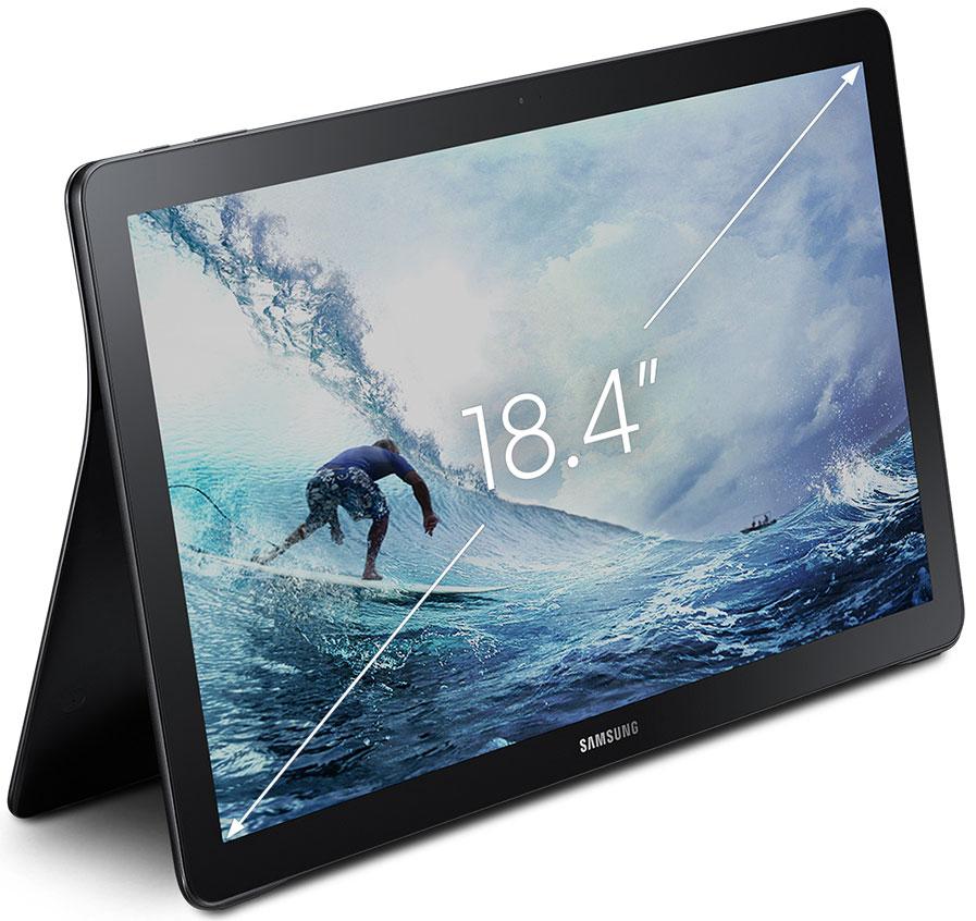 galaxy view la tablette t l portative dot e d 39 un cran de 18 4 pouces. Black Bedroom Furniture Sets. Home Design Ideas