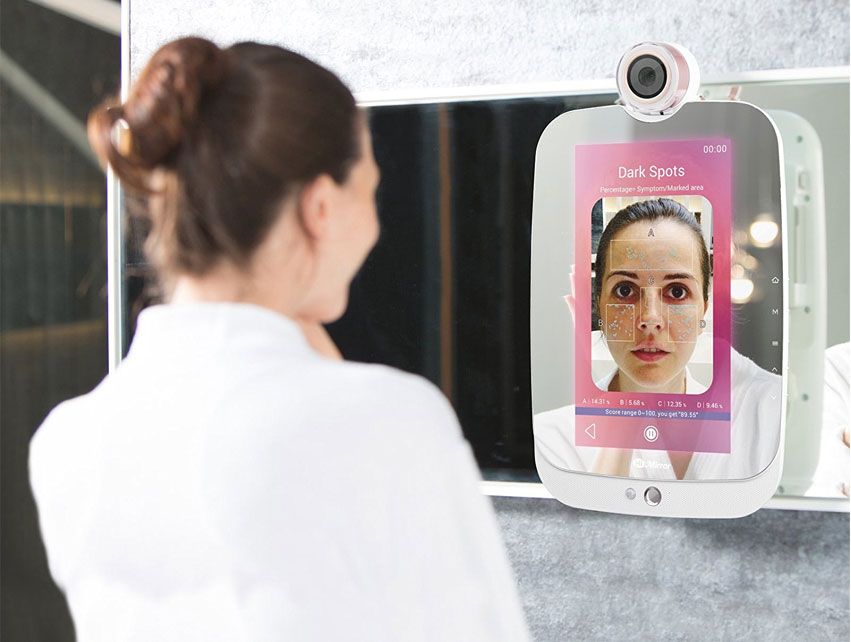Ma cr me 10 a d jou ce miroir intelligent qui analyse for Miroir intelligent