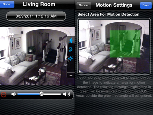 cam ra de surveillance en direct sur iphone ipad et ipod touch. Black Bedroom Furniture Sets. Home Design Ideas