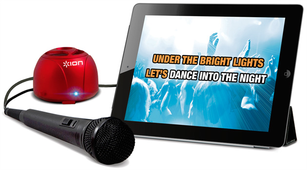 ensemble karaok pour ipad et android avec microphone et haut parleur. Black Bedroom Furniture Sets. Home Design Ideas