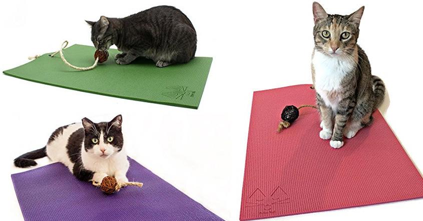 un tapis de yoga con u sp cialement pour votre chat. Black Bedroom Furniture Sets. Home Design Ideas