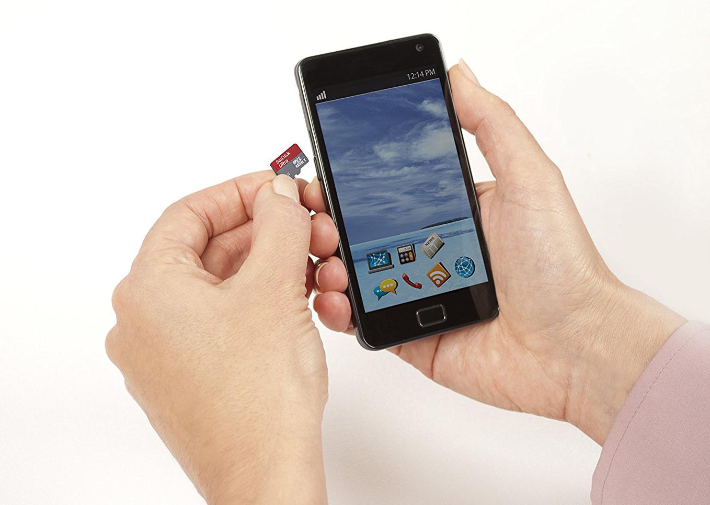 Mémoire téléphone intelligent carte microSD