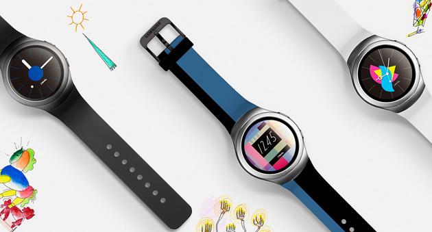 une forme circulaire pour la montre intelligente gear s2 de samsung. Black Bedroom Furniture Sets. Home Design Ideas