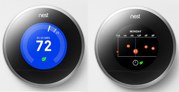 Thermostat Nest écran