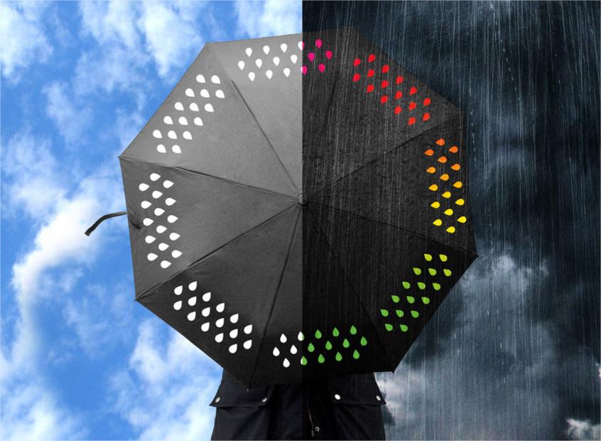 parapluie qui change couleur sous la pluie. Black Bedroom Furniture Sets. Home Design Ideas
