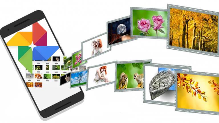 partage albums google photos