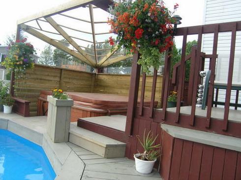 photos de vos am nagements de cours et terrasses. Black Bedroom Furniture Sets. Home Design Ideas