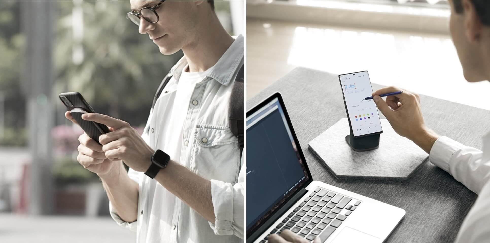 MagEZ Juice Pitaka recharge sans fil support téléphone