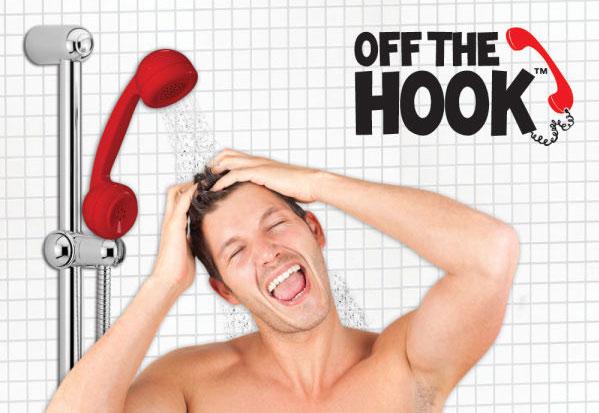 Pommeau de douche en forme de t l phone - Pommeau de douche retro ...