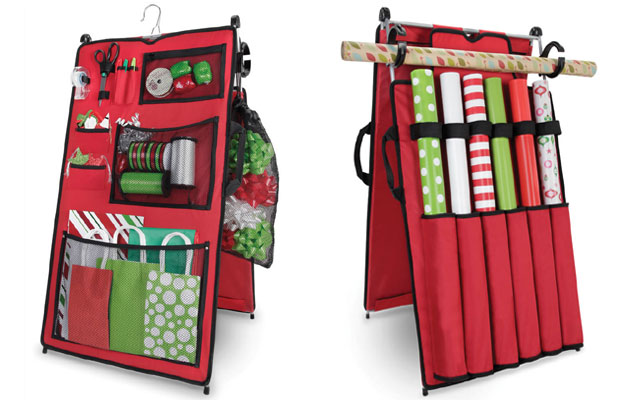 rangement pour accessoires d 39 emballage de cadeaux de no l. Black Bedroom Furniture Sets. Home Design Ideas