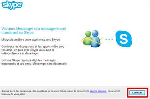 Skype continuer