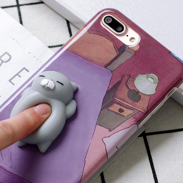 squishy cat case mobile