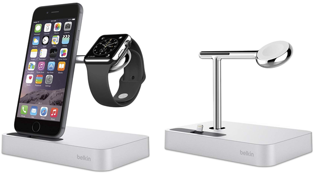 station de recharge 2 en 1 pour apple watch et iphone. Black Bedroom Furniture Sets. Home Design Ideas