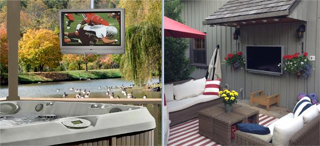des crans plats con us pour l 39 ext rieur r sistant la pluie et la neige. Black Bedroom Furniture Sets. Home Design Ideas
