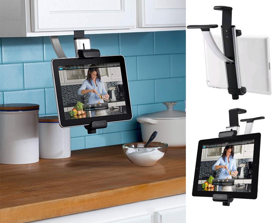 lib rez le comptoir de cuisine en suivant une recette sur votre tablette. Black Bedroom Furniture Sets. Home Design Ideas