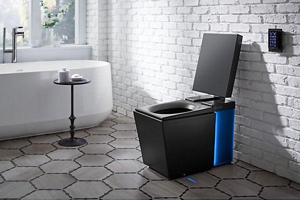 une toilette de luxe avec chauffage haut parleur et bidet. Black Bedroom Furniture Sets. Home Design Ideas