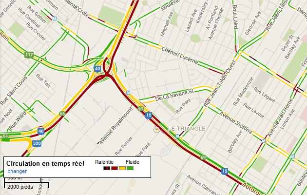 Trafic Google Maps