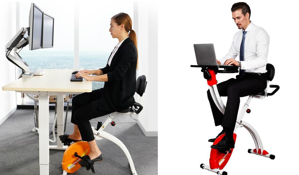 faites du v lo votre bureau et travaillez debout sans changer de mobilier. Black Bedroom Furniture Sets. Home Design Ideas