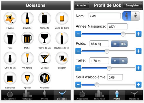 calculez votre taux d 39 alcool dans le sang par le web ou iphone. Black Bedroom Furniture Sets. Home Design Ideas