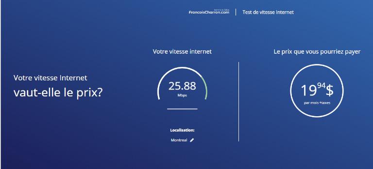 Plan Hub tester vitesse connexion internet forfait francoischarron.com