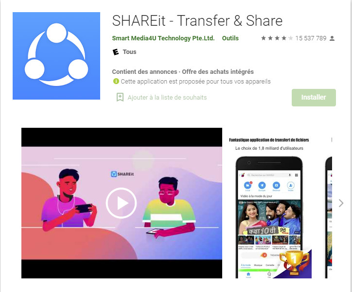 Application SHAREit Android Play Store