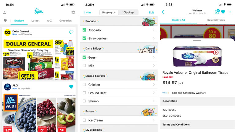 application flipp tout-en-un listes coupons circulaires