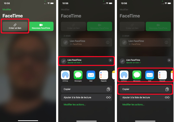 Comment créer un lien invitation Facetime
