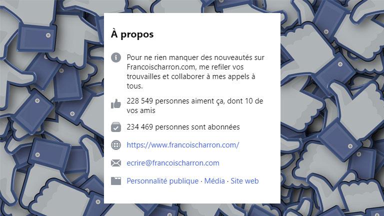 différence mentions J'aime abonnés Facebook