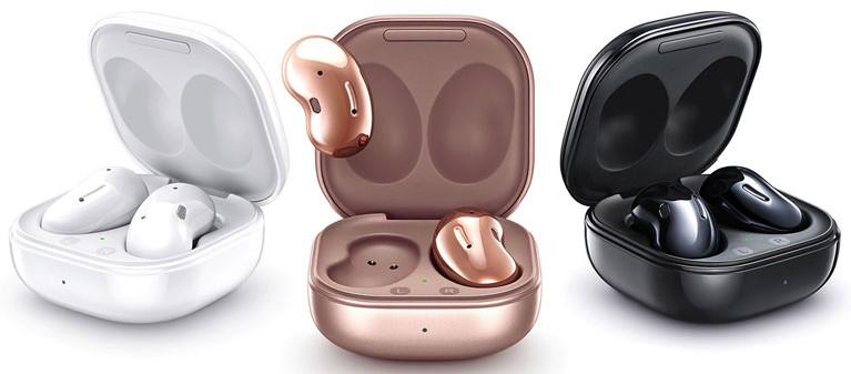 écouteurs boutons sans fil samsung galaxy buds live ergonomiques design bijoux