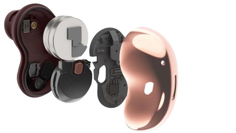 écouteurs boutons sans fil samsung galaxy buds live qualité audio réduction bruits