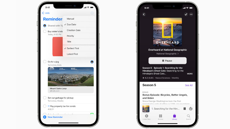 nouvelle interface Rappels Podcast iOS 14.5