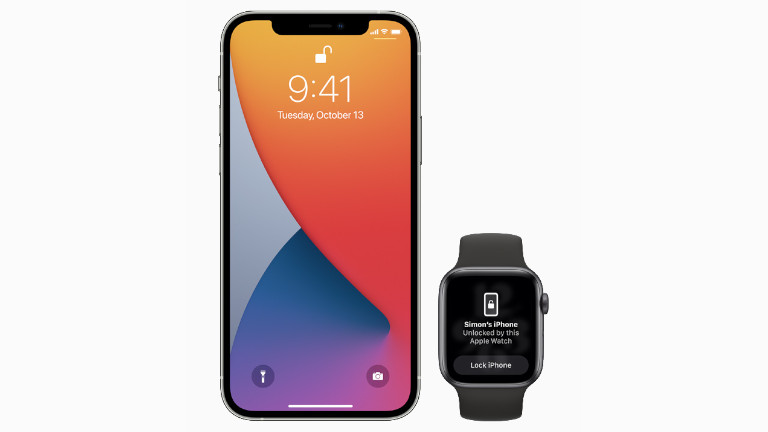 Apple Watch déverrouiller iPhone iOS 14.5