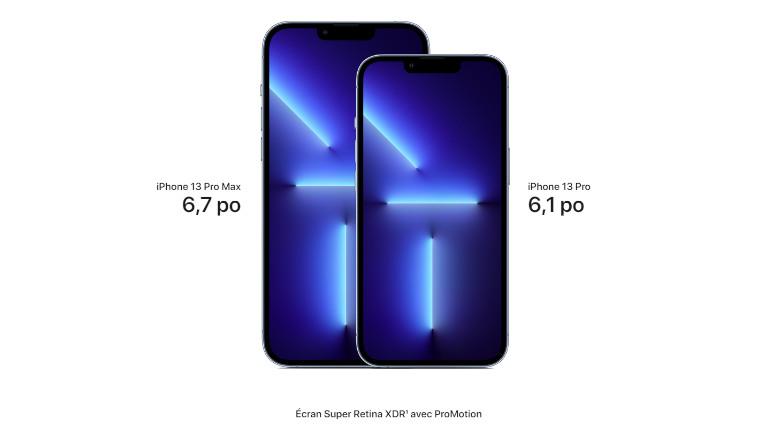 iPhone 13 Pro Max écran ProMotion