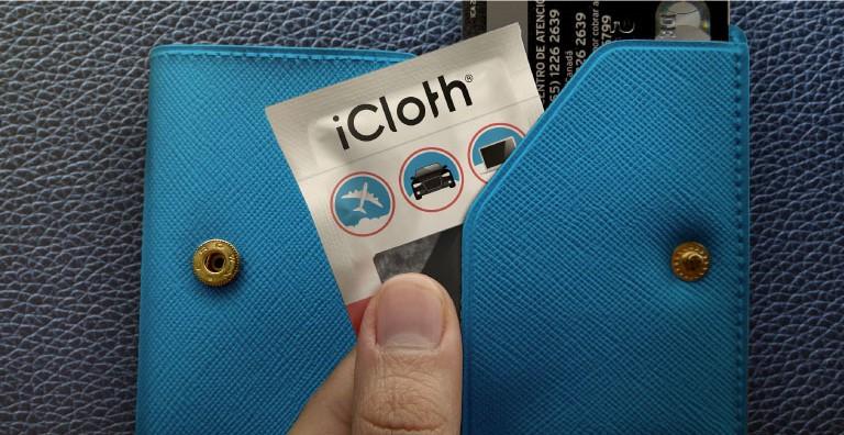 lingettes nettoyantes désinfectantes iCloth emballage individuel