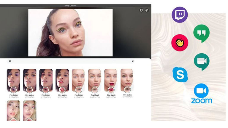 maquillage virtuel L'Oréal Snap Camera