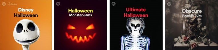 playlists thématique halloween spotify
