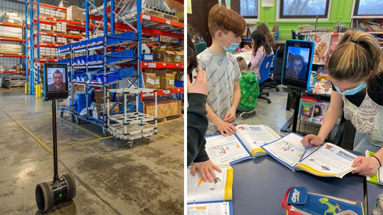 robot téléprésence holo utilité travail usine école étudiant